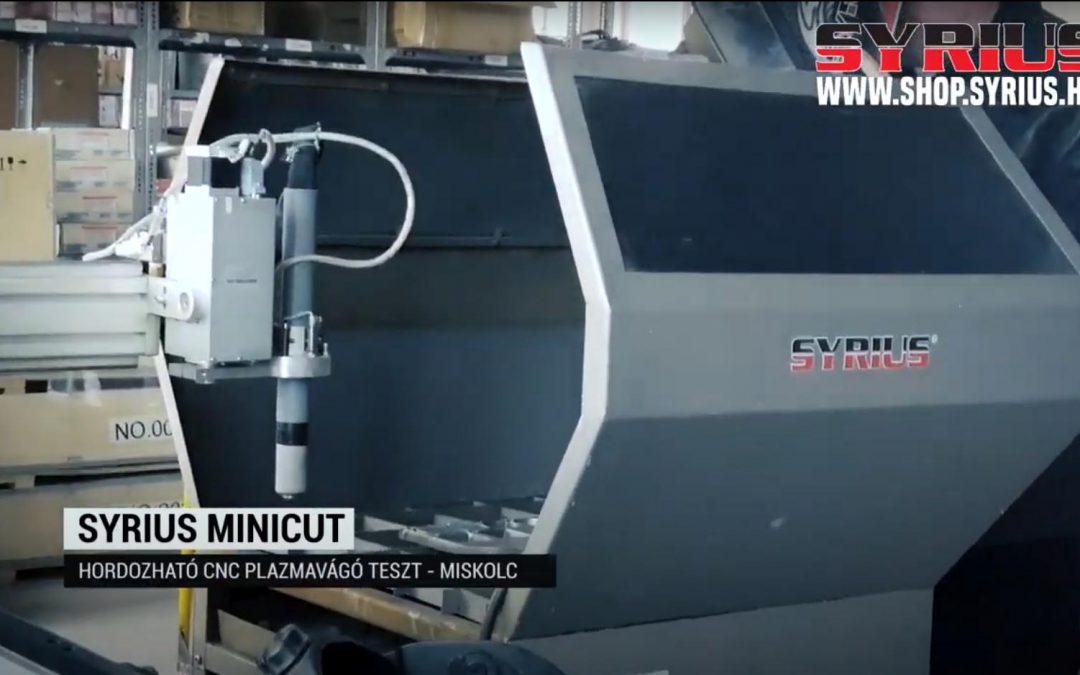 Plazmavágó gép teszt - SYRIUS MINICUT CNC plazmavágó rendszer - Miskolc