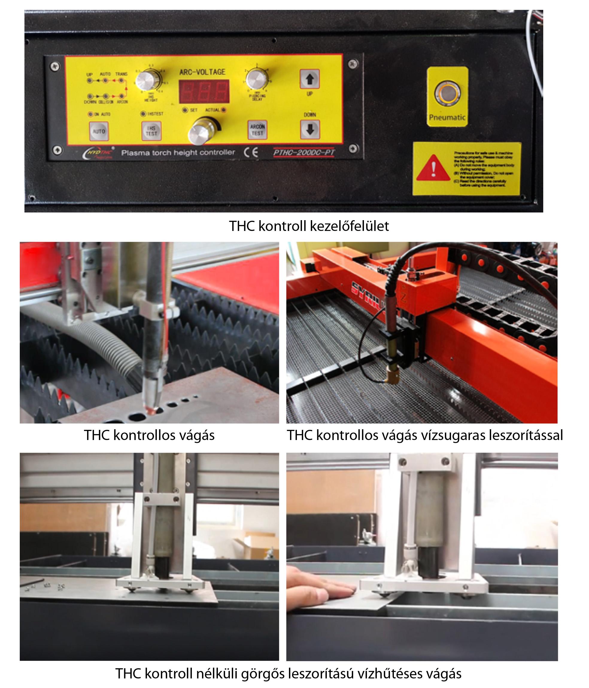 SYRIUS Easycut 1530 CNC plazmavágó asztal THC kontroll