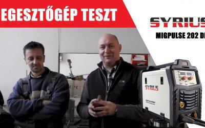 Hegesztőgép teszt – Ádám György – SYRIUS MIGPULSE 202 DP