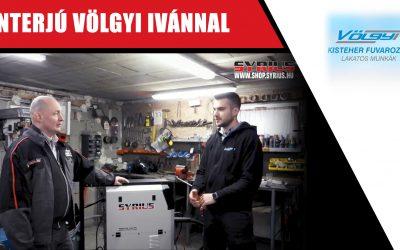 Hegesztőgép üzembehelyezés és interjú Völgyi Ivánnal – SYRIUS MIGPULSE 352 DPL