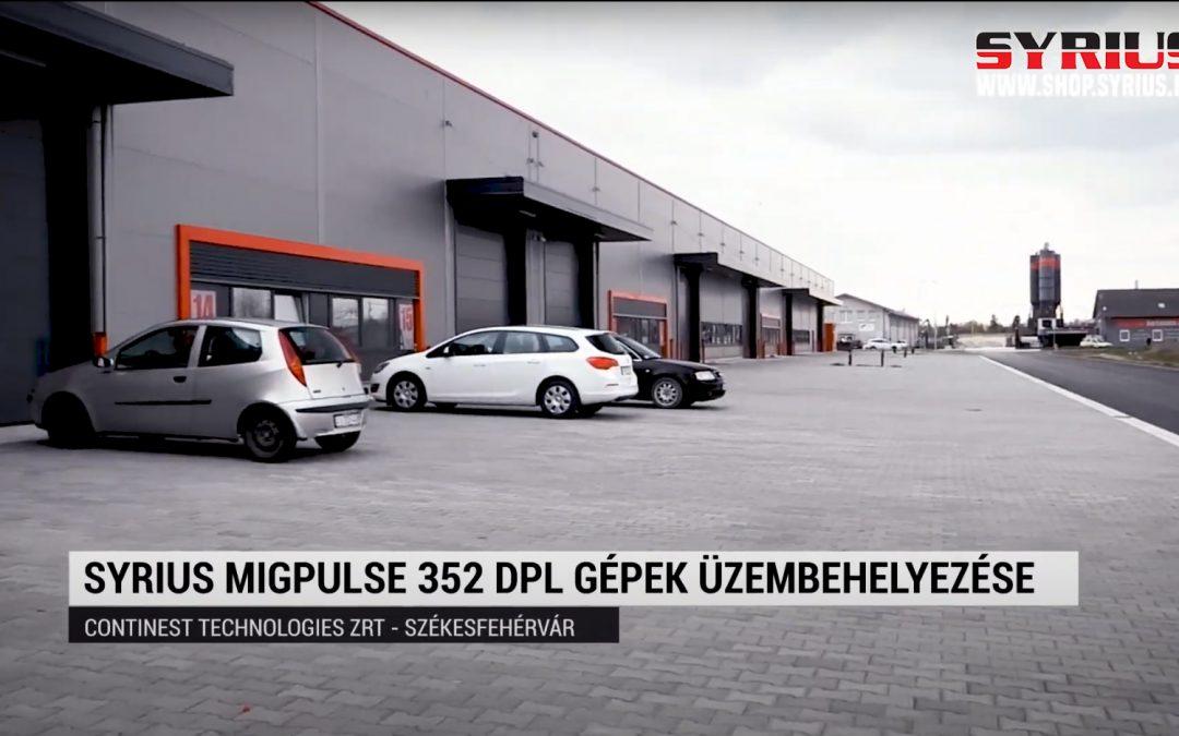 SYRIUS MIGPULSE 352 DPL fogyóelektródás hegesztőgép üzembehelyezés - Continest Technologies kft.