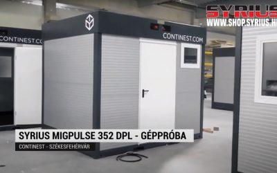 Hegesztőgép teszt – SYRIUS MIGPULSE 352 DPL szinergikus hegesztőgép- ContiNest