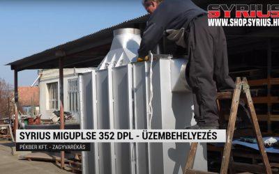 Hegesztőgép üzembehelyezés – Pékber kft – SYRIUS MIGPULSE 352 DPL fogyóelektródás hegesztő inverter