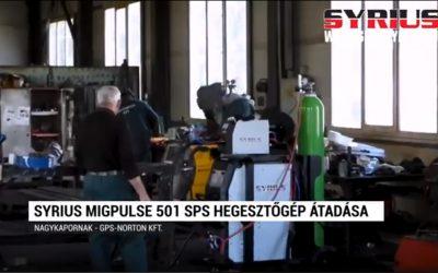 Fogyóelektródás ( Co ) hegesztőgép átadás – SYRIUS MIGPULSE 501 SPS – Nagykapornak – GPS Norton kft