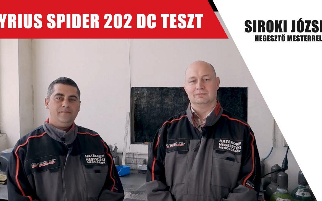 Többfunkciós hegesztőgép bemutató- SYRIUS SPIDER 202 DC – Siroki József