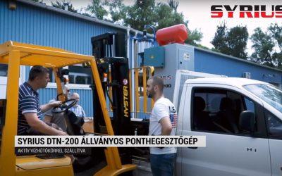 Állványos ponthegesztőgép üzembe helyezés –  SYRIUS DTN – 200 –  Szendrő Galva Kft.