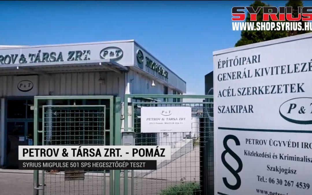 Fogyóelektródás ( Co )  Hegesztőgép teszt – SYRIUS MIGPULSE 501 DPP- Petrov & Társa Zrt – Pomáz