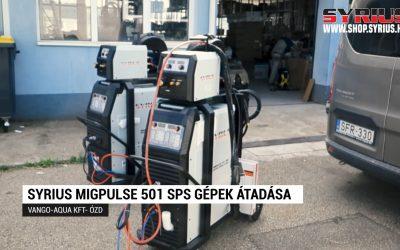 Fogyóelektródás ( Co ) hegesztőgép – SYRIUS MIGPULSE 501 SPS átadása VANGO – AQUA KFT – Ózd