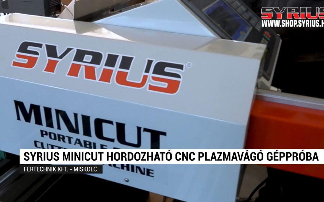 SYRIUS MINICUT hordozható cnc plazmavágó géppróba – FERTECHNIK KFT – Miskolc